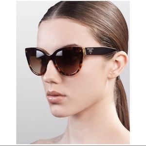 NWT Prada 54mm Cat Eye Tortoise Sunglasses